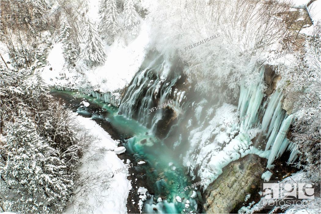 Photo de stock: Shirahige falls, Hokkaido, Biei, Japan.