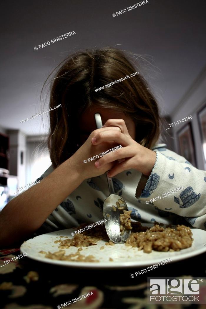 Stock Photo: Girl eating.