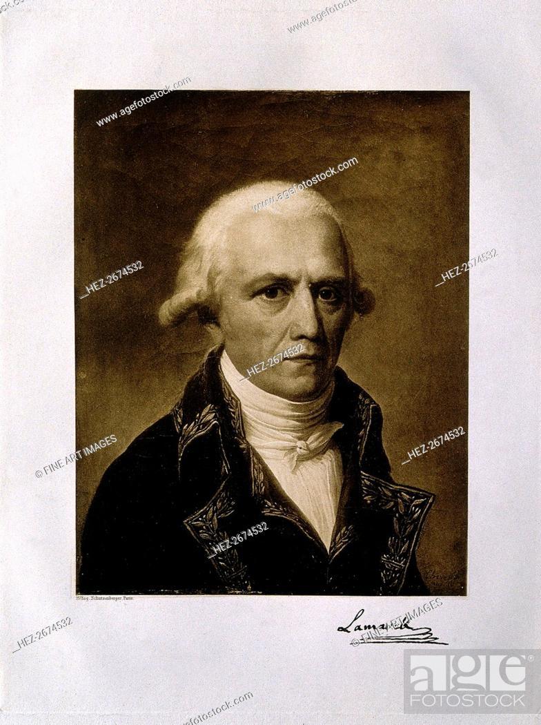 Stock Photo: Jean-Baptiste Pierre Antoine de Monet, Chevalier de Lamarck (1744-1829), 1801.