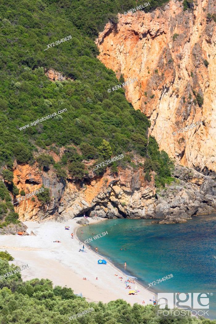 Photo de stock: Lichnos Bay near Parga, Epirus, Greece.