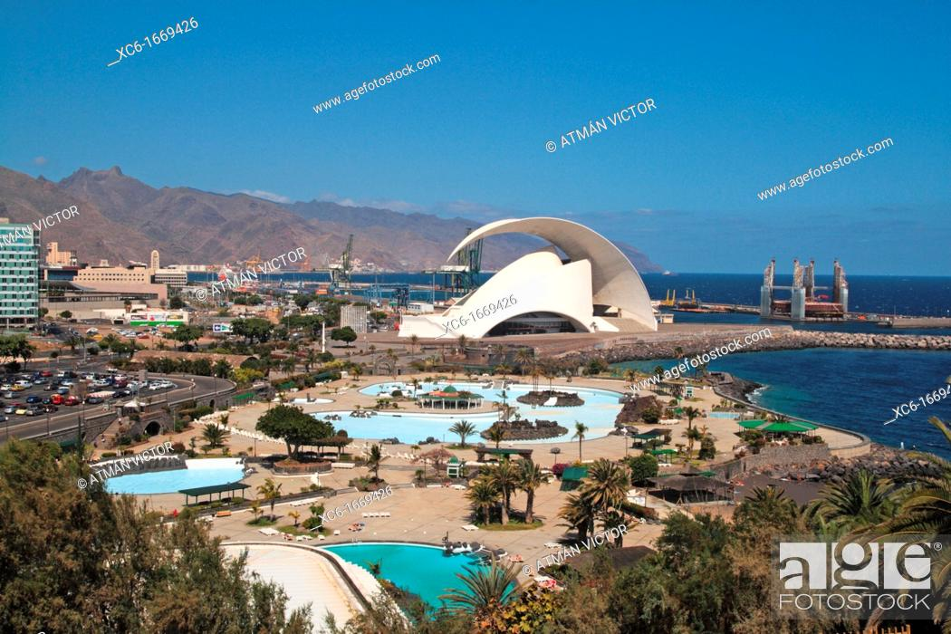 Stock Photo: auditorium in Santa Cruz de Tenerife.