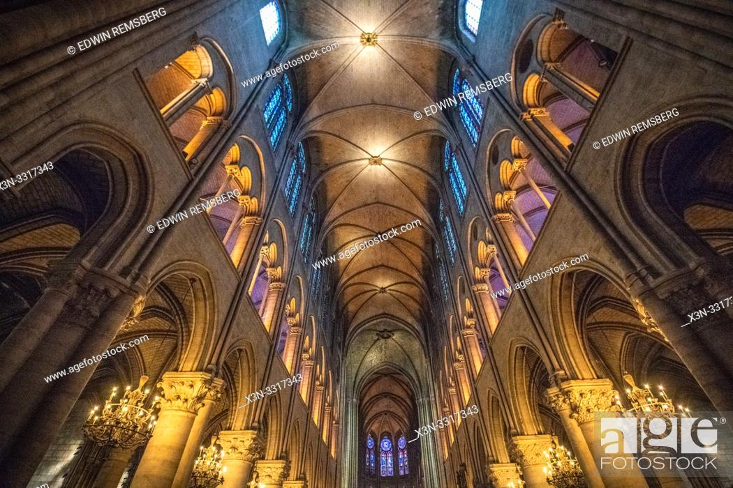 Stock Photo: Notre Dame Cathedral, Paris, France. Notre Dame - Paris, France.