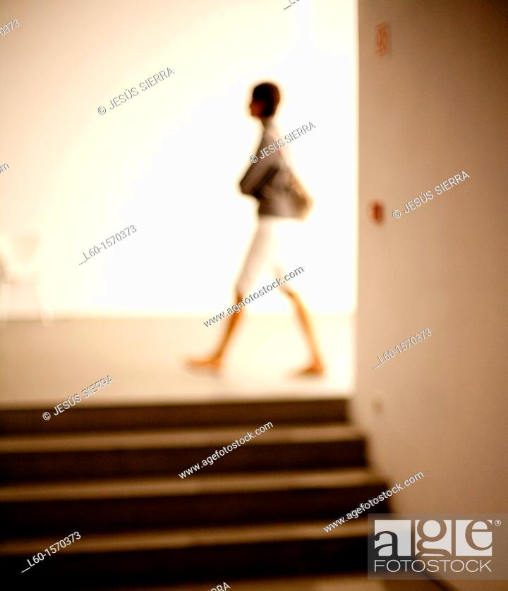 Stock Photo: Reina Sofia Museum, Madrid, Spain.