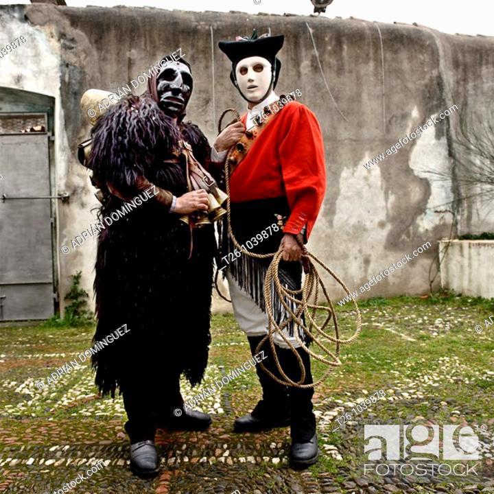 Stock Photo: Carnival Costume, Sardinia, Italy.