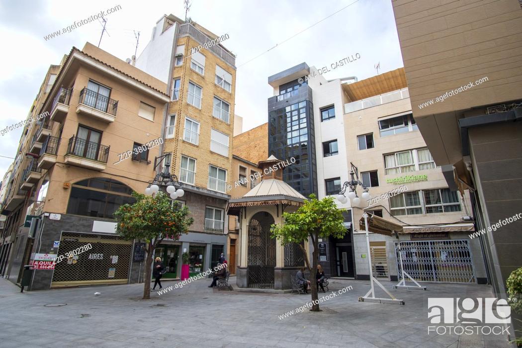 Stock Photo: Elche Alicante Spain La Corredora shopping street in the center of the city of Elche.