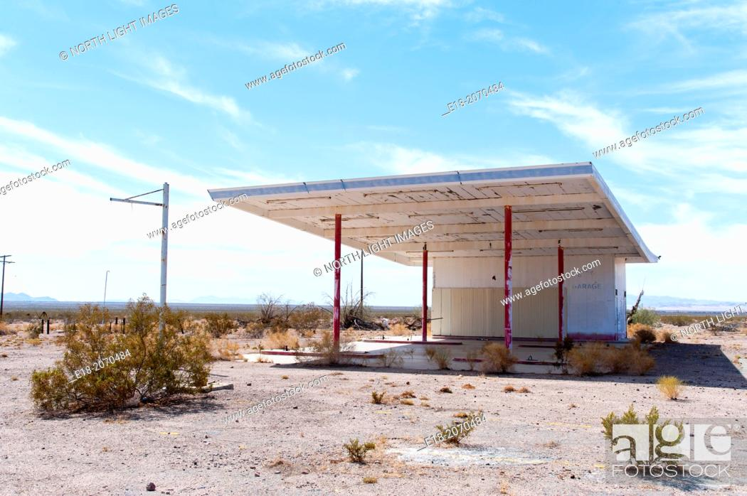 Usa California Chambless The Remains Of An Old Gas Station In An Abandoned Town On The Side Of Stock Photo Picture And Rights Managed Image Pic E18 2070484 Agefotostock