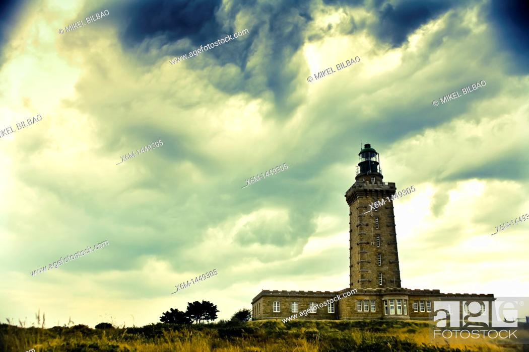Stock Photo: lighthouse  Cap Frehel, Côtes-d'Armor, in northern Brittany, France.