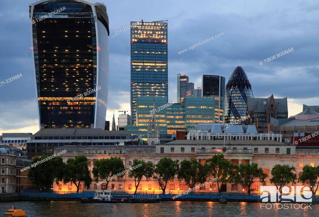 Stock Photo: UK, England, London, City, skyline, skyscrapers, .