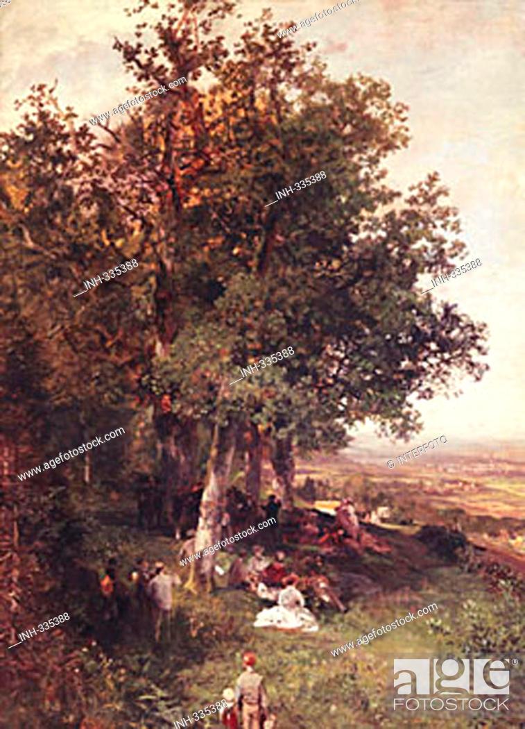 fine arts achenbach oswald 1827 1905 painting blick auf