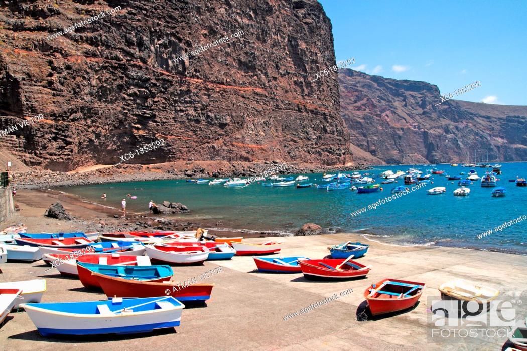 Stock Photo: Las Vueltas beach in La Gomera island.
