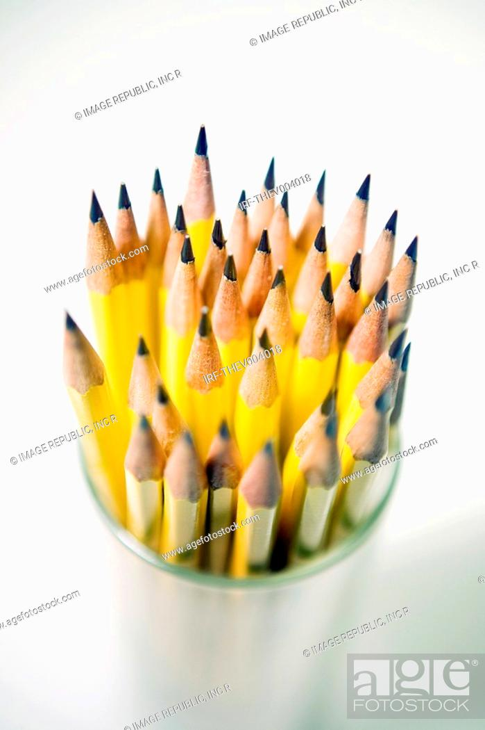 Stock Photo: pencils in the pencilbox.