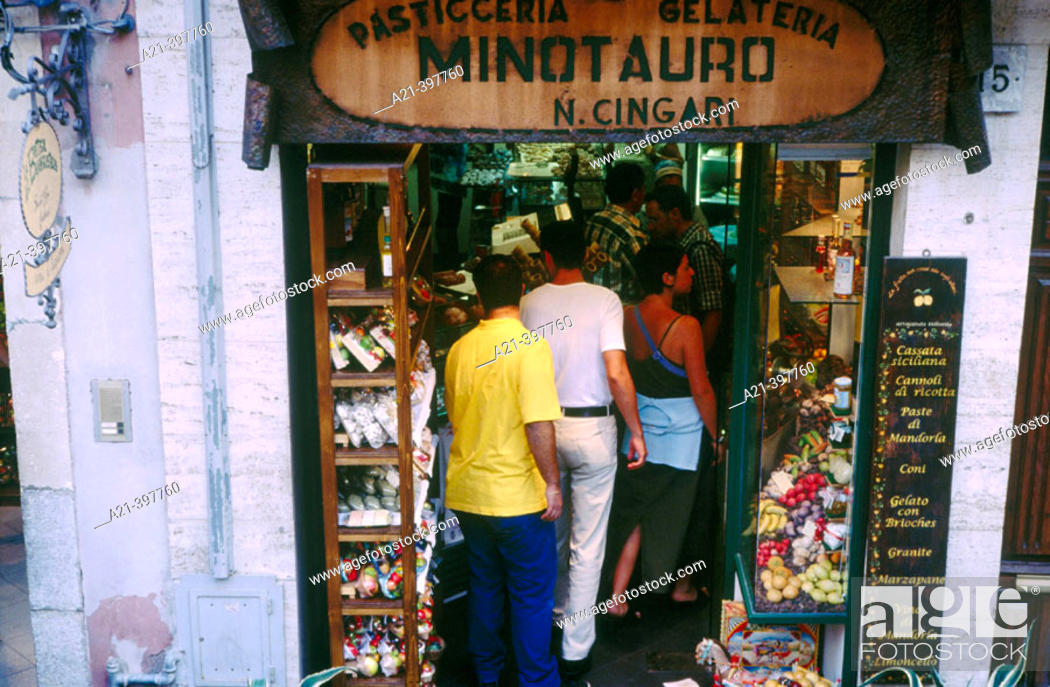 Stock Photo: Marzipan shop. Taormina. Sicily. Italy.
