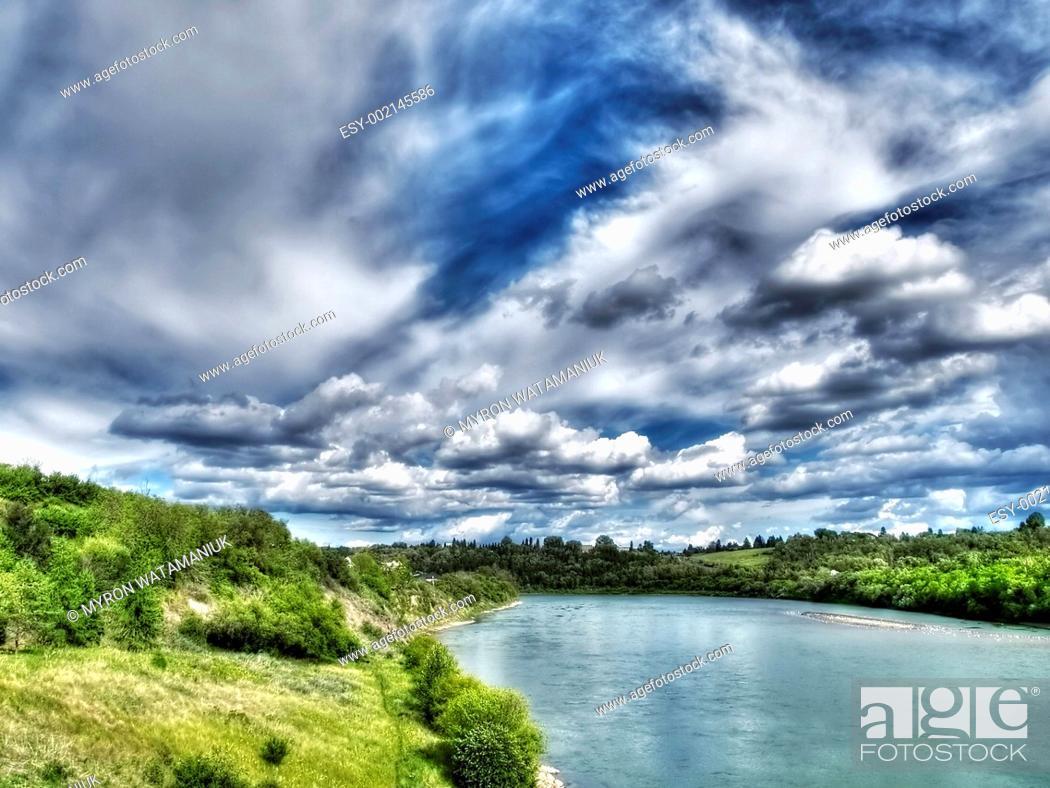 Stock Photo: River Landscape.