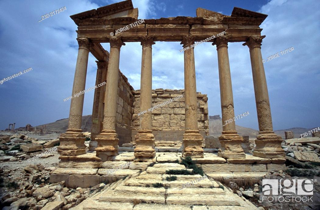 Imagen: Funerary temple, Palmyra. Syria.