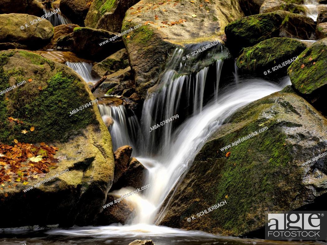 Stock Photo: Europe, Germany, Saxony-Anhalt, Harz National Park, Autumn at the Ilse Falls, Ilsetal, Ilsenburg.