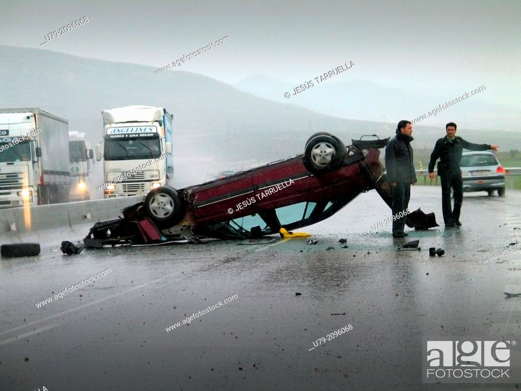 Stock Photo: Accidents. Spain. Europe.