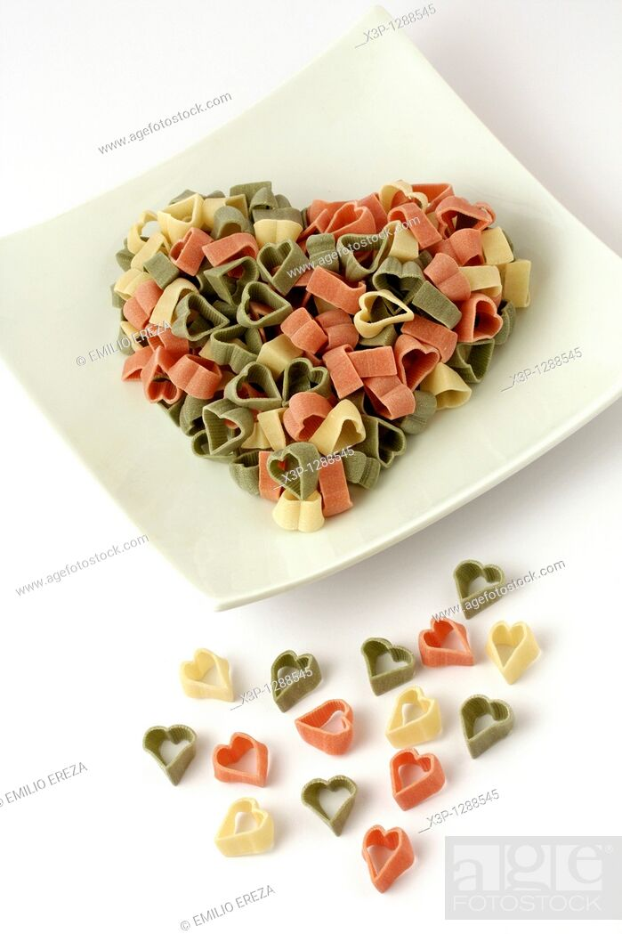 Stock Photo: Heart shaped pasta.