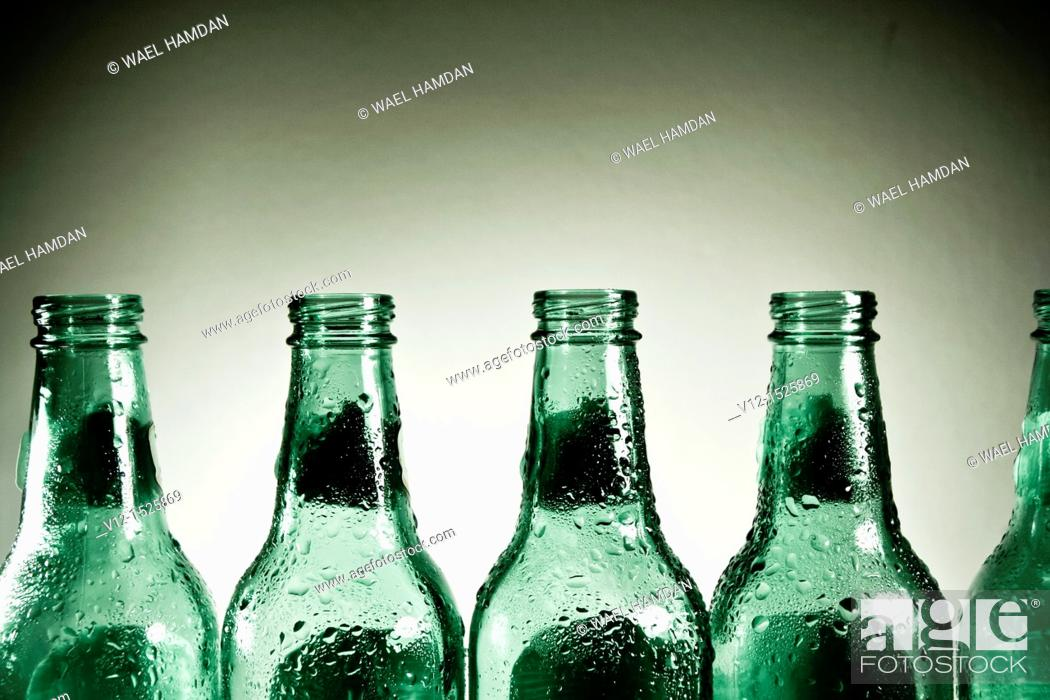 Stock Photo: Close-up of an empty Beer bottle.