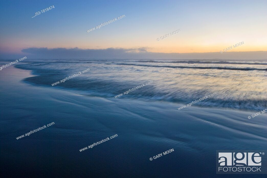 Stock Photo: Beach abstract at sunset.