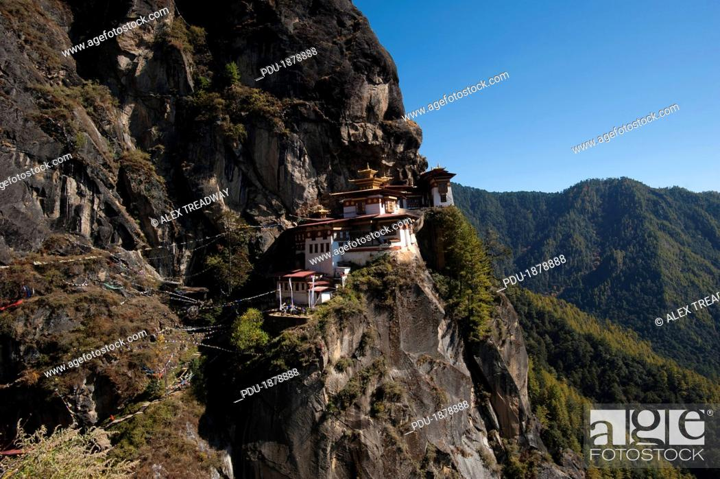 Stock Photo: Spectacular Taktshang Goemba also know as the Tiger's nest.