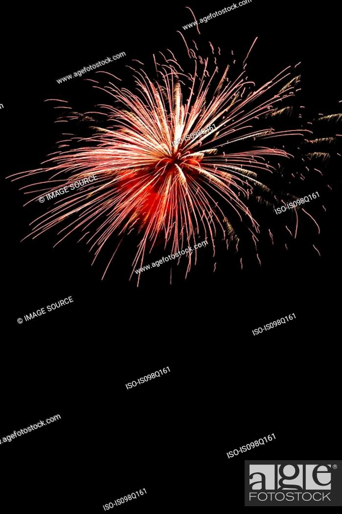Stock Photo: Firework display.
