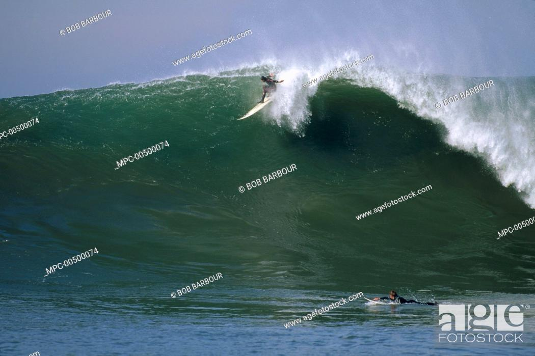 Shawn Rhodes, Mavericks, Half Moon Bay, California, Stock