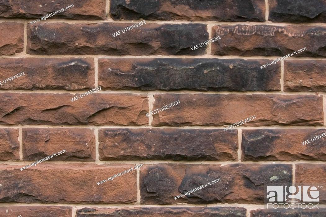 Stock Photo: Brick Wall, Close-Up, Day, Full Frame.