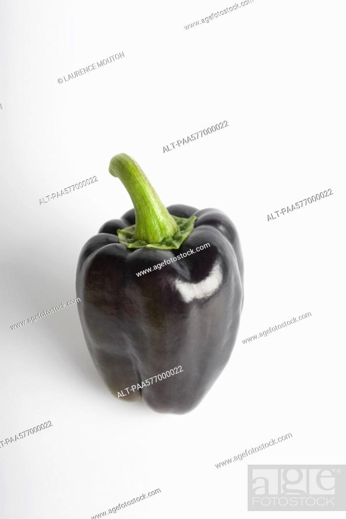 Stock Photo: Purple bell pepper.