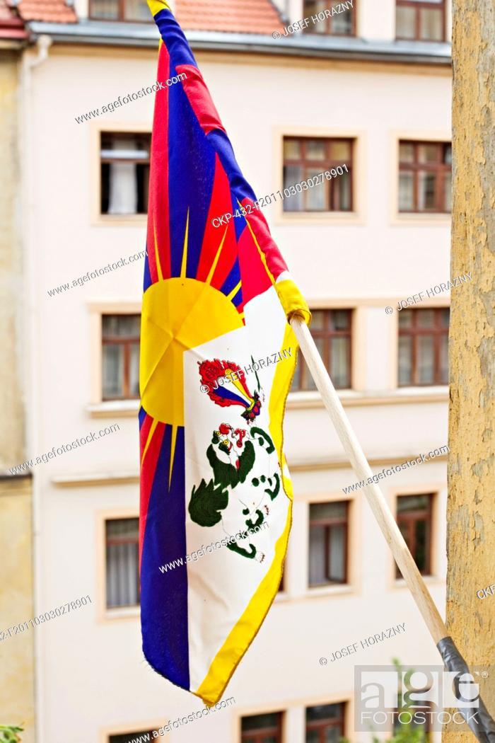 Imagen: tibetian flag.