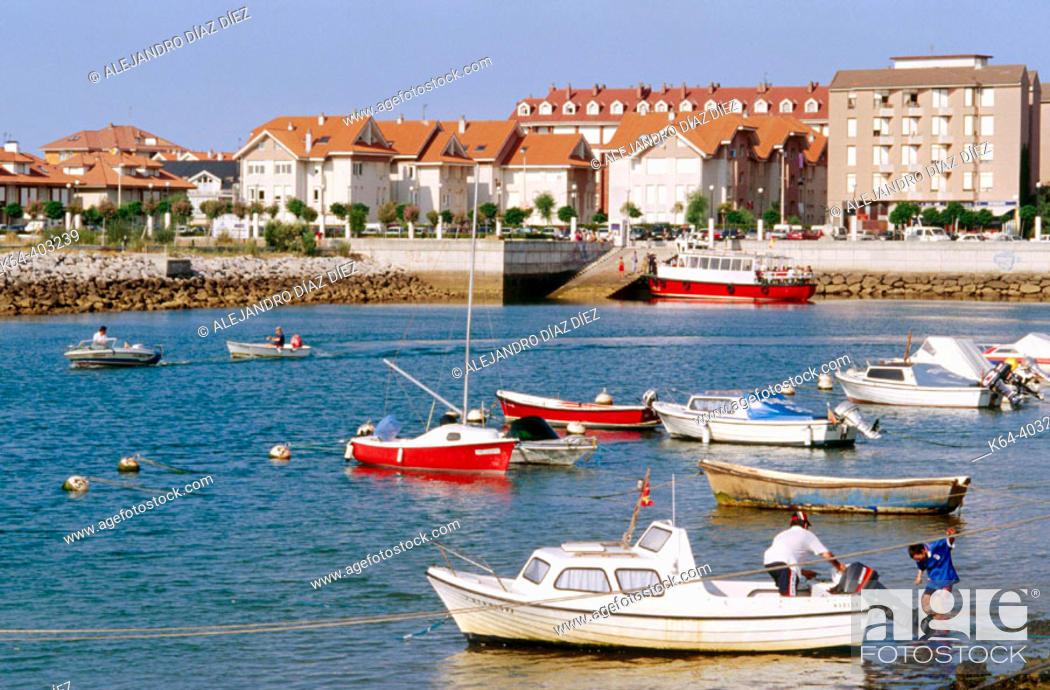 Stock Photo: Port of Somo, Cantabria. Spain.