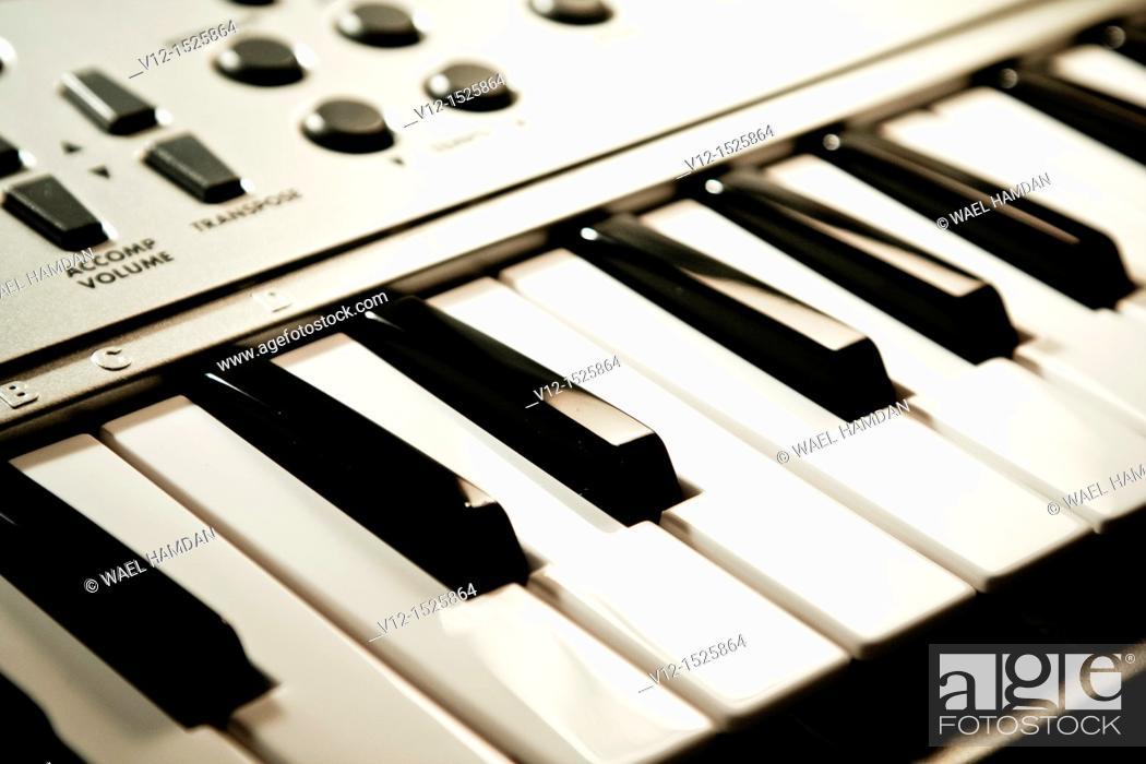 Stock Photo: Music Keyboard.
