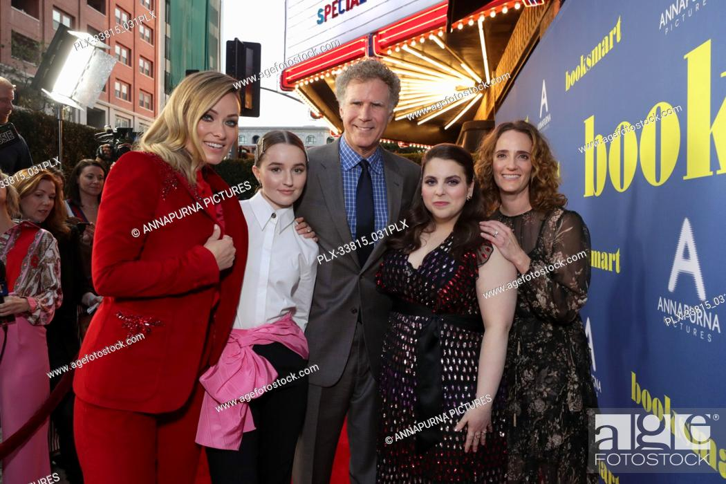 Stock Photo: Olivia Wilde, Director, Kaitlyn Dever, Will Ferrell, Beanie Feldstein, Jessica Elbaum, Producer, at the Los Angeles Special Screening of Annapurna Pictures'.