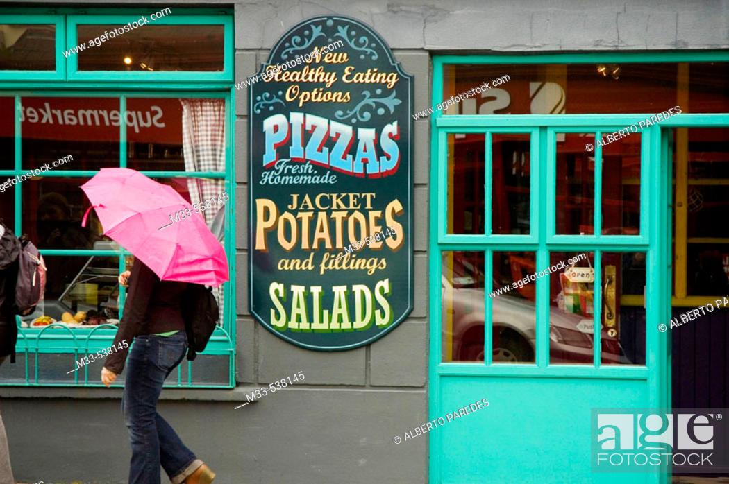 Stock Photo: Restaurant. Dingle. Dingle peninsula. Co. Kerry. Ireland.