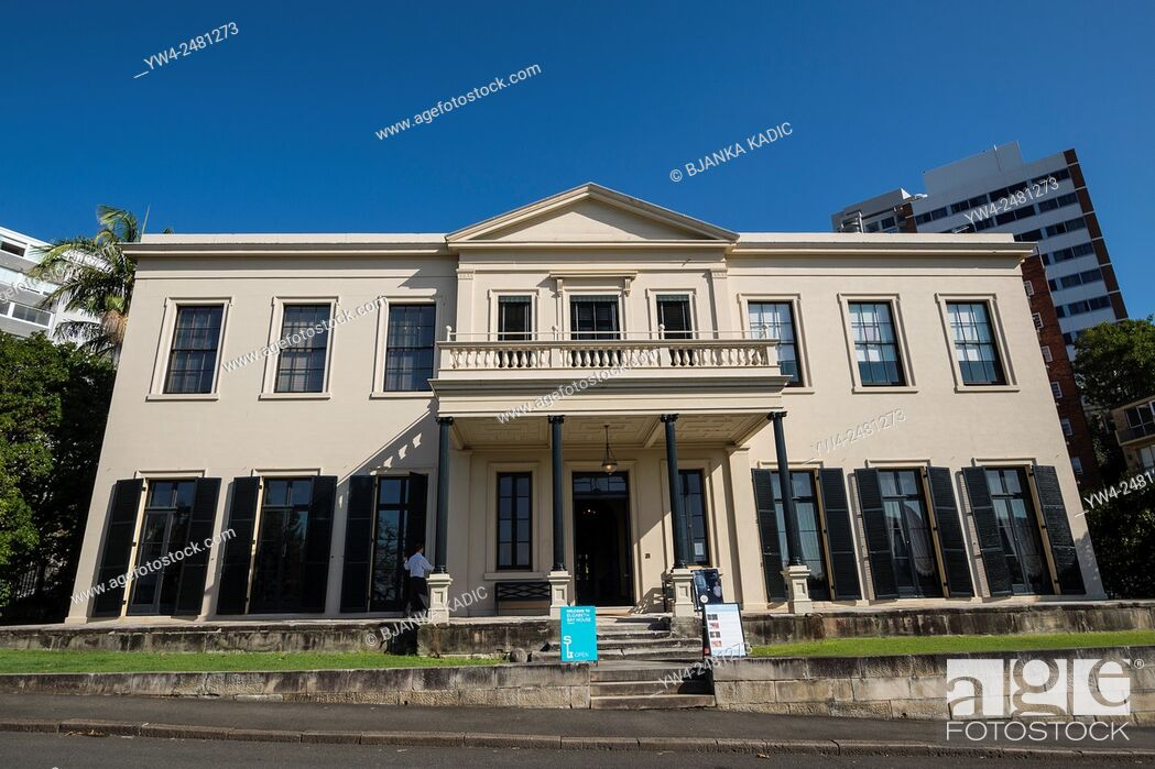 Photo de stock: Elizabeth Bay House, Front facade, Potts Point, Sydney, Australia.