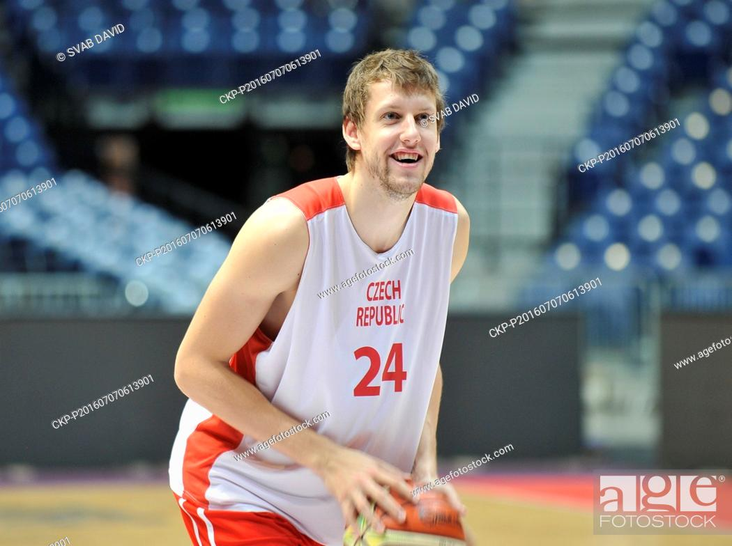 Czech Basketball Player Jan Vesely Trains Prior To The Group B