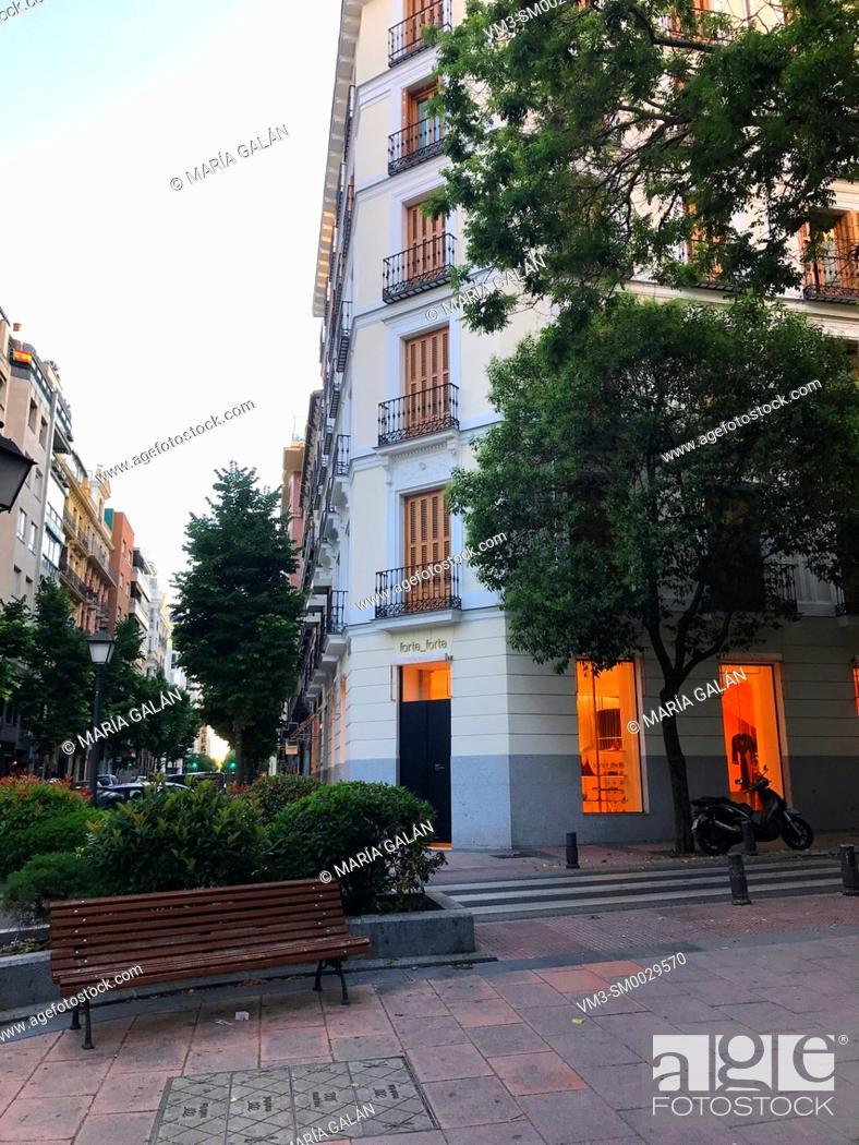 Stock Photo: Lagasca street. Madrid, Spain.