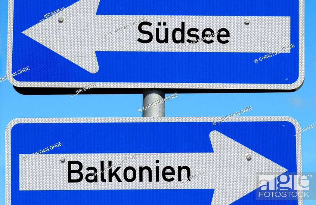 Stock Photo: Urlaub in Balkonien, Holiday in Balkonien.
