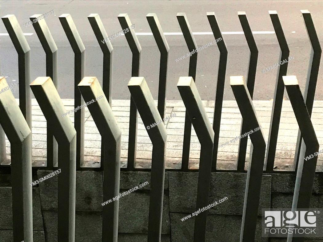 Stock Photo: Metal bars composition.