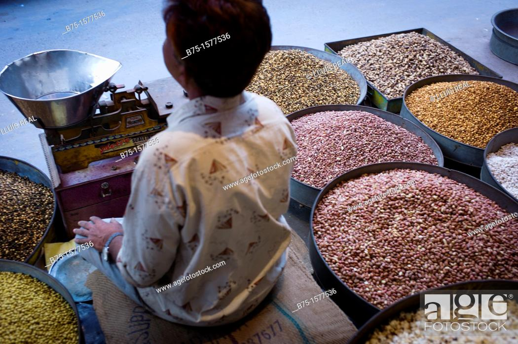 Stock Photo: Marketplace, Jaipur, India, Asia.
