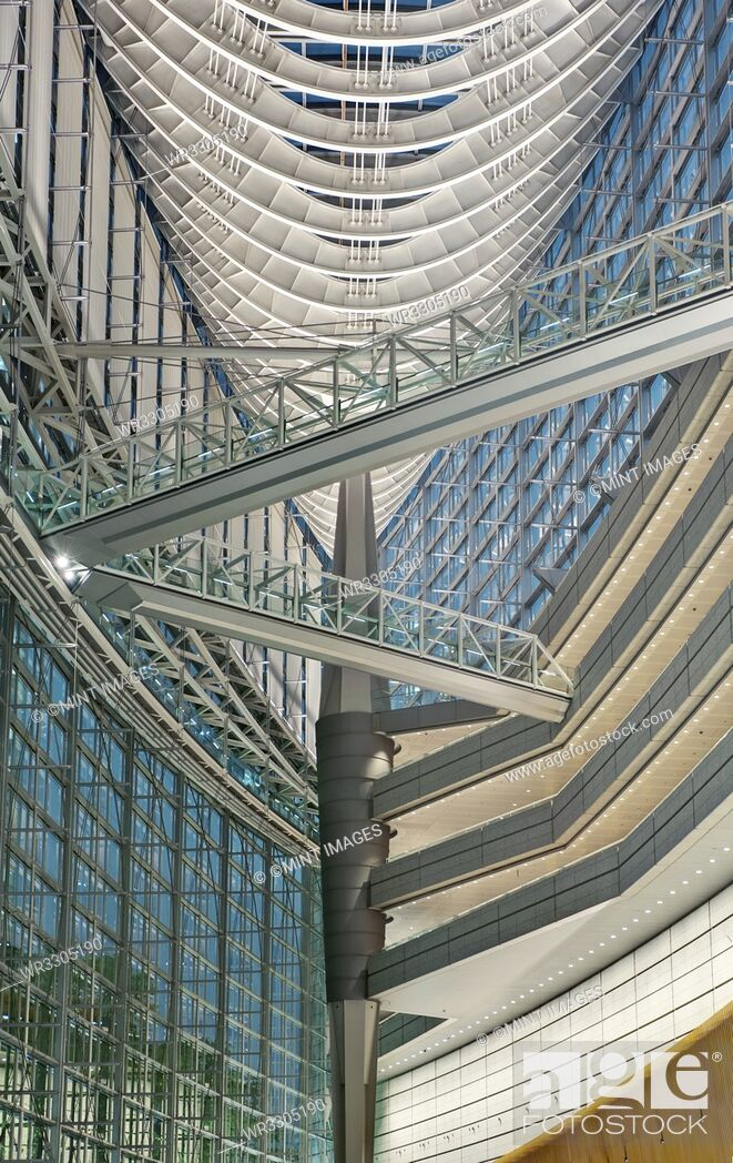 Stock Photo: Tokyo International Forum Interior.
