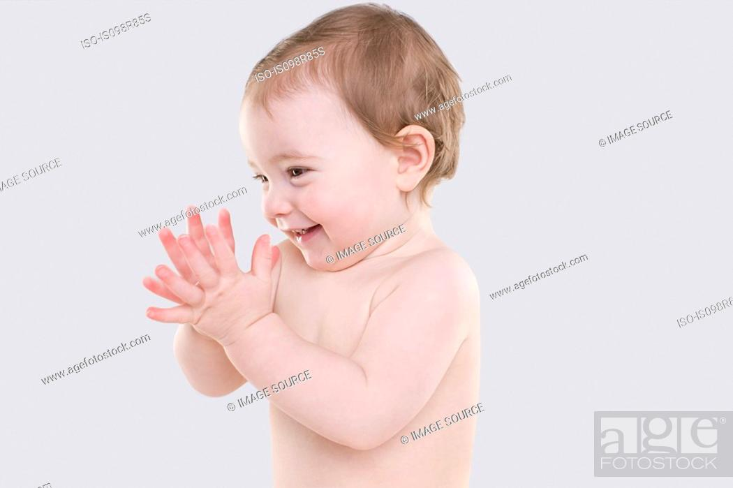 Stock Photo: Happy baby.