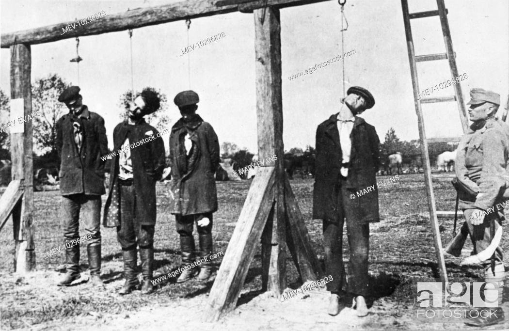 Four Supposed Russian Spies Are Hanged By Austrian Troops At Kowel