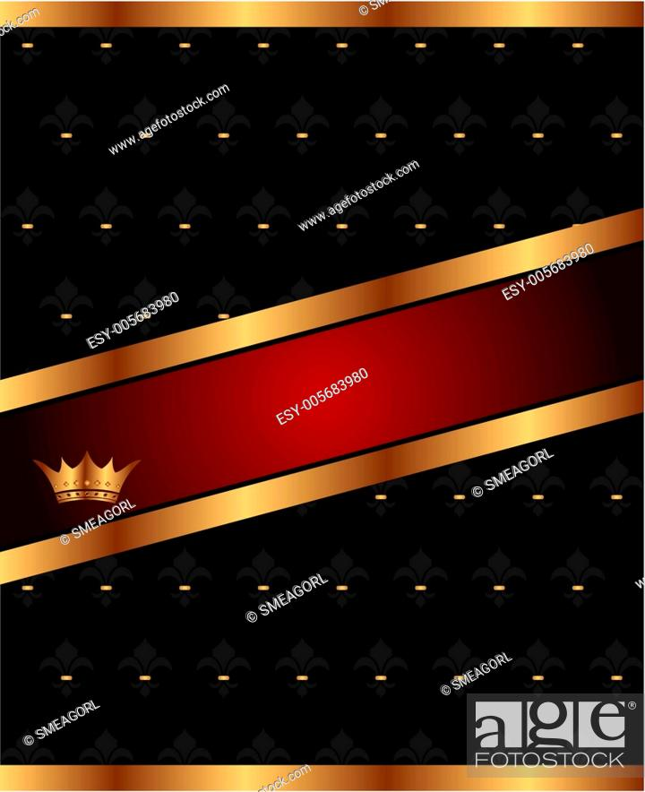 Stock Vector: background with golden luxury crown.