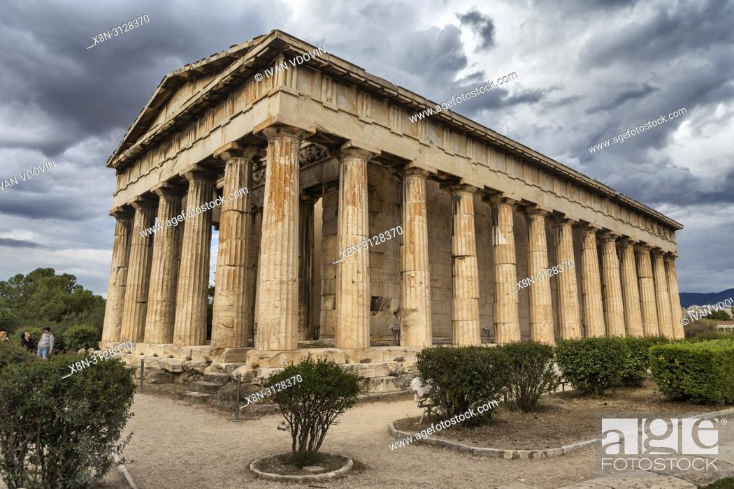 Imagen: Temple of Hephaestus, Hephaestion, Theseion (415 BC), Ancient Agora, Athens, Greece.