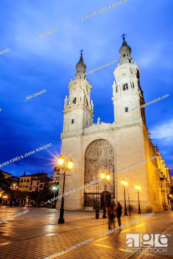 Imagen: St. James way, Cathedral of Santa María de la Redonda at Logroño, La Rioja, Spain.