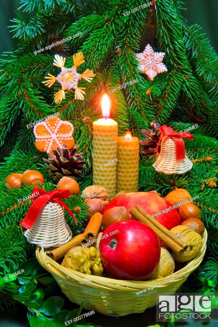 Stock Photo: Traditional christmas decorations, folk customs.