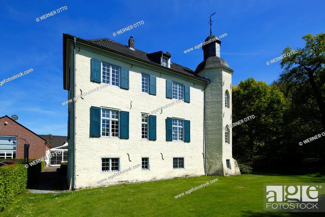 Stock Photo: Germany, Nettetal, Maas-Schwalm-Nette Nature Park, Schwalm-Nette Nature Park, Lower Rhine, Rhineland, North Rhine-Westphalia, NRW, Nettetal-Hinsbeck, House Bey.