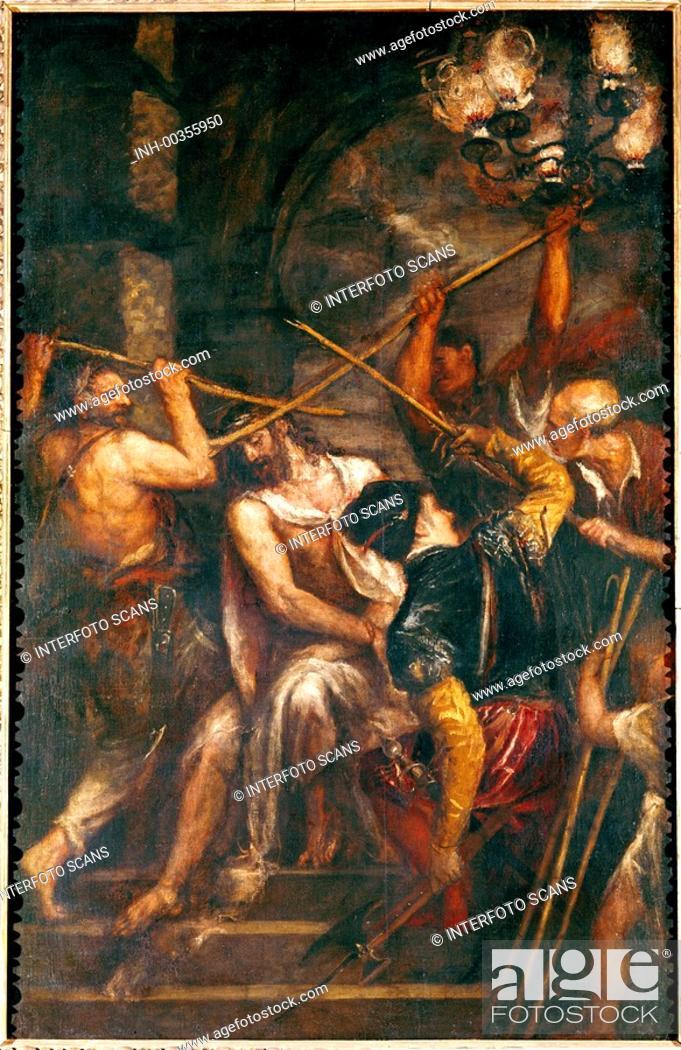 U Kunst Tizian Eig Tiziano Vecellio Um 1480 27 8 1576 Gemalde Dornenkronung 1570 76 Stock Photo Picture And Rights Managed Image Pic Inh 00355950 Agefotostock