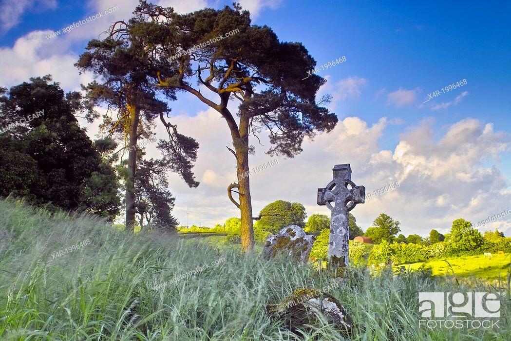 Stock Photo: Old graveyard, Rathconrath, County Westmeath, Ireland.