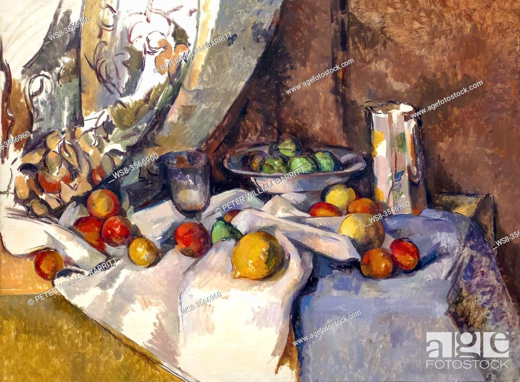 Stock Photo: Still Life with Apples, Paul Cezanne, 1895-1898, .